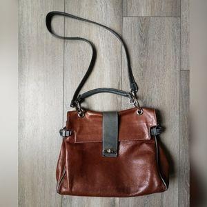 Vintage Figini leather crossbody bag